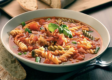 Minestrone Soup with Ayrshire Middle Bacon